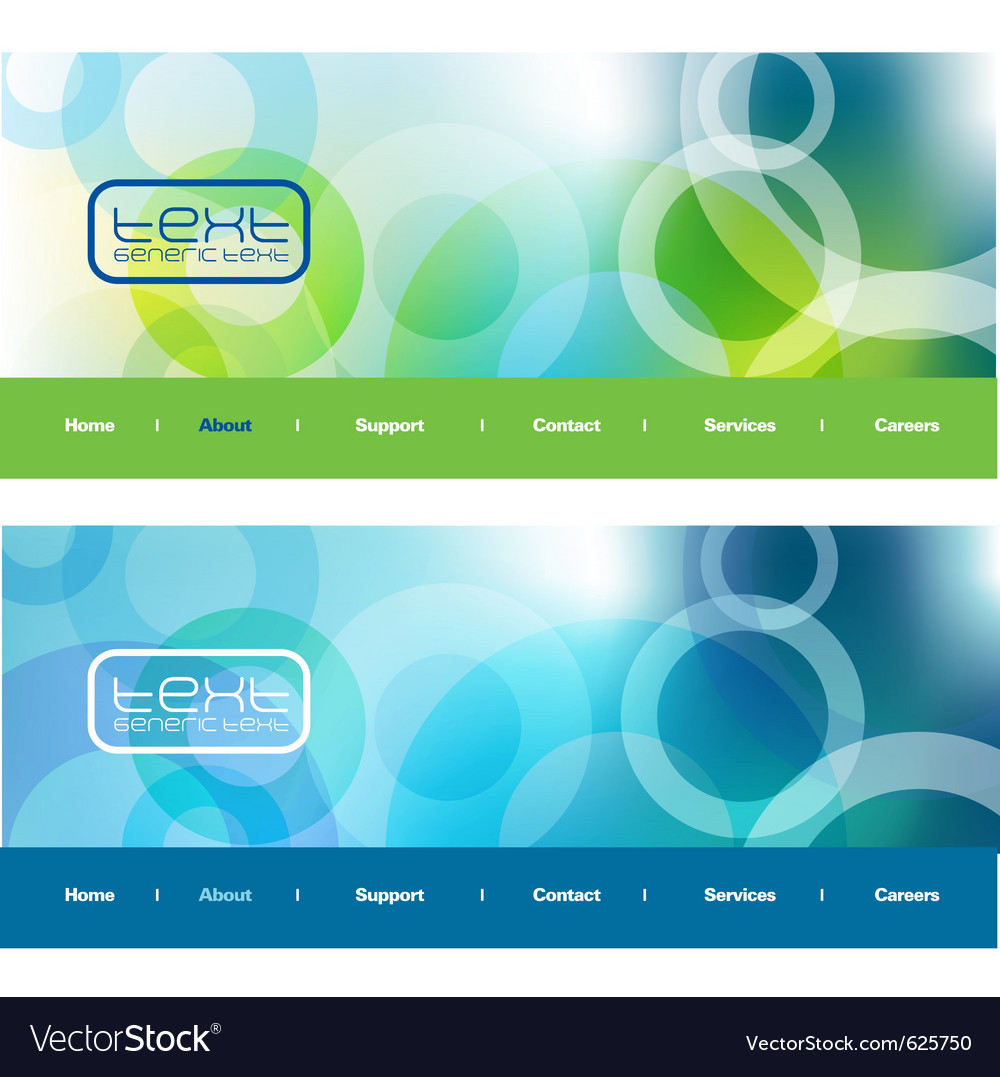 Modern web banners vector image