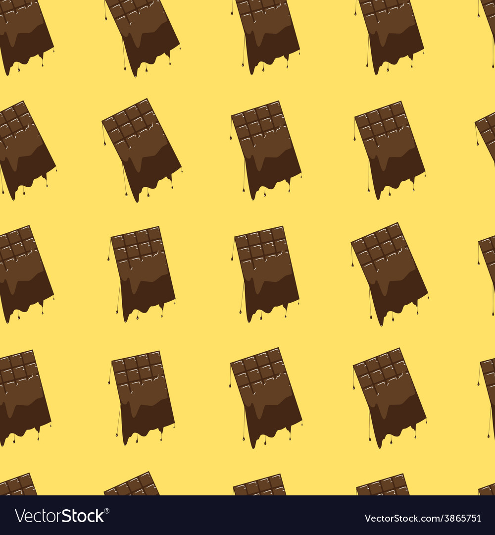 Melted chocolate seamless background vector image