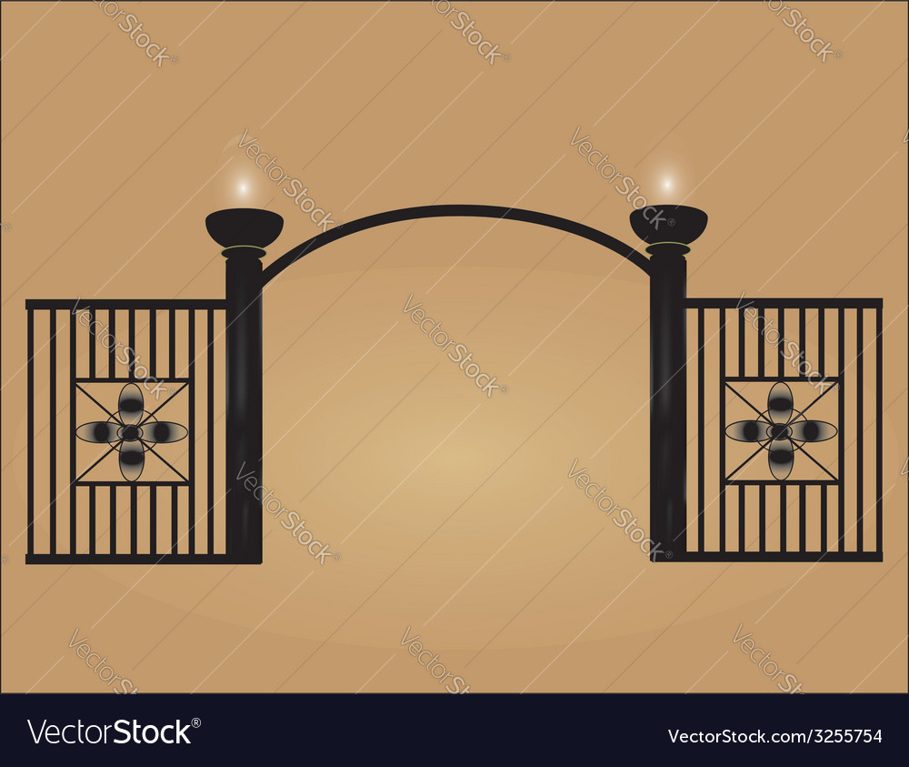 Black mesh fence vector image
