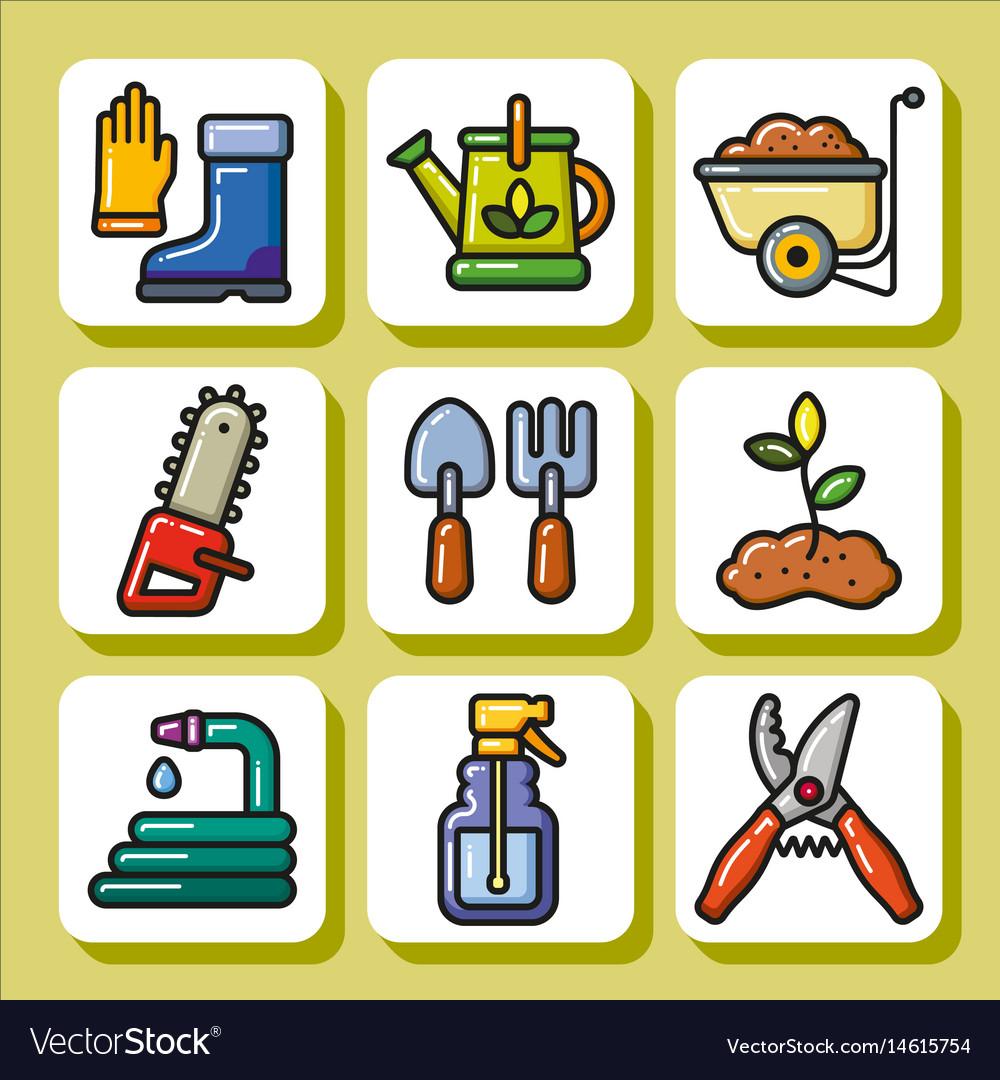 Gardening tools 1 vector image