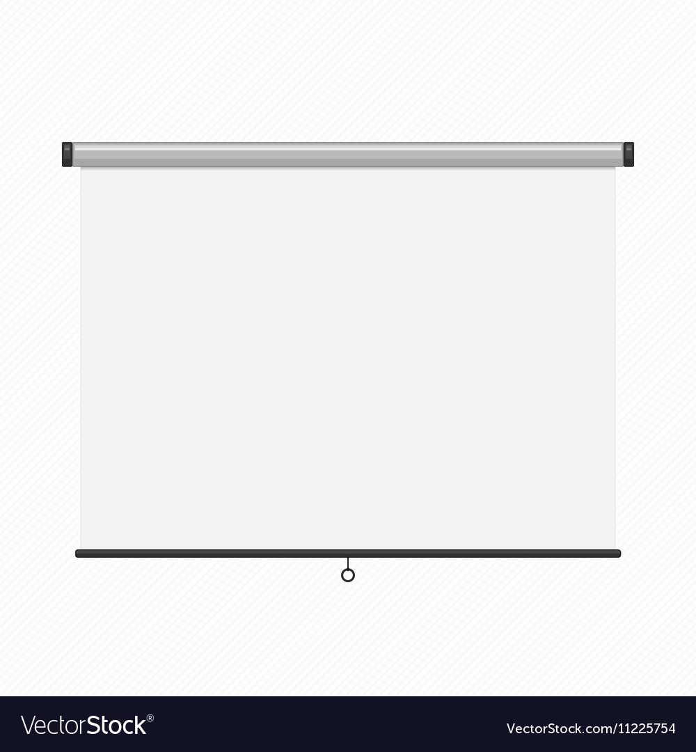 Projection presentation screen vector image