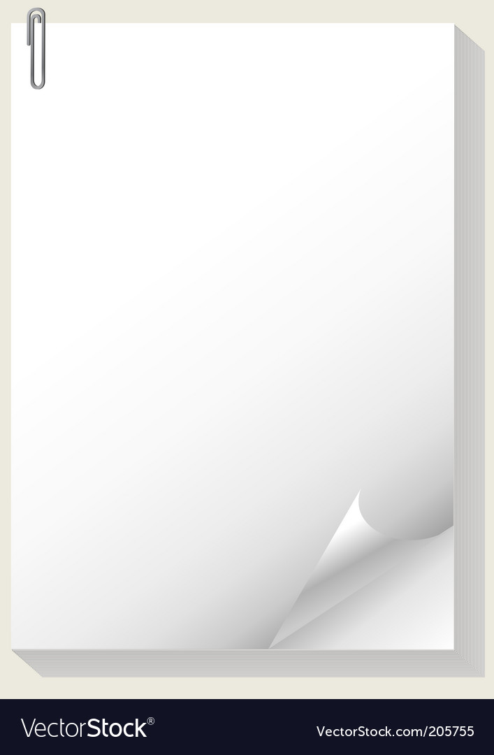 Paper pad Vector Image