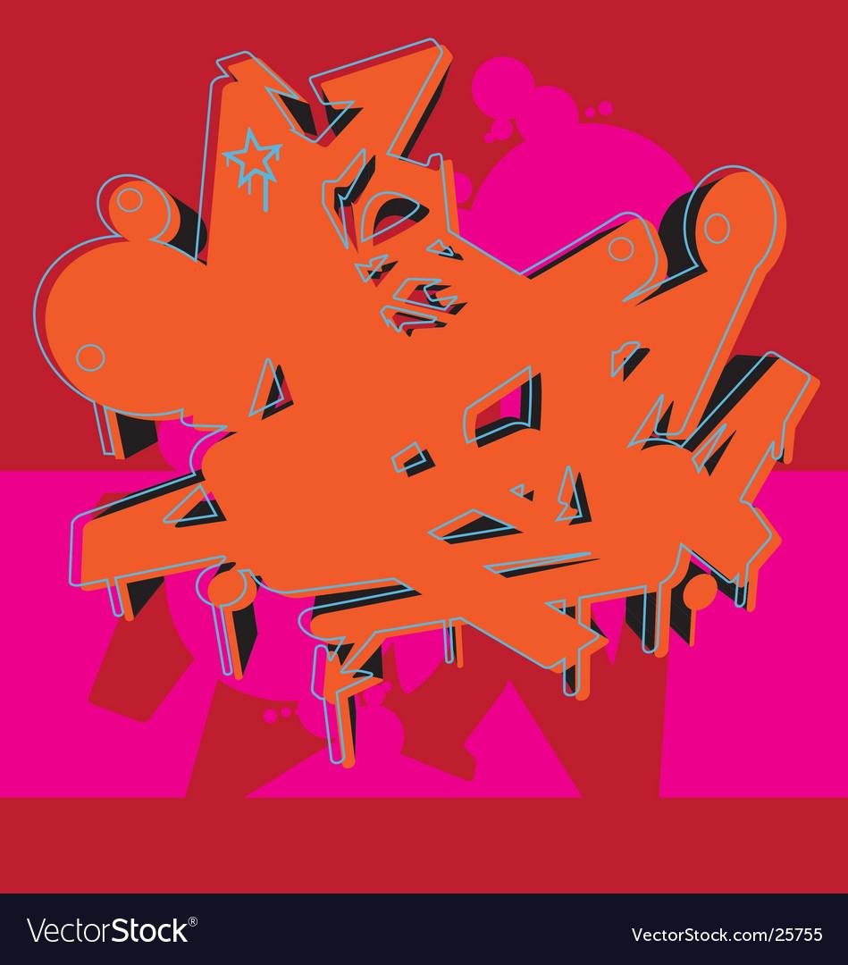 Graffiti graphic vector image