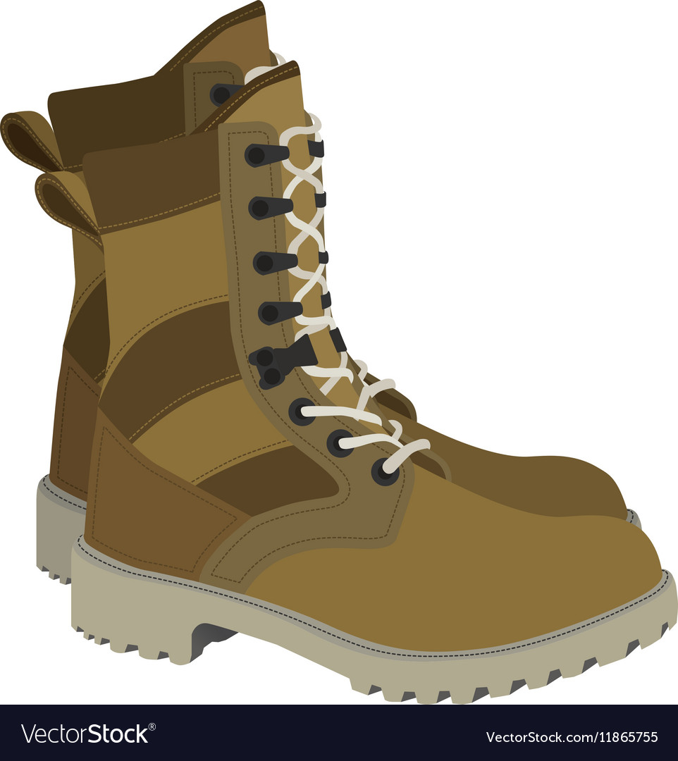 Army boots in style vector image
