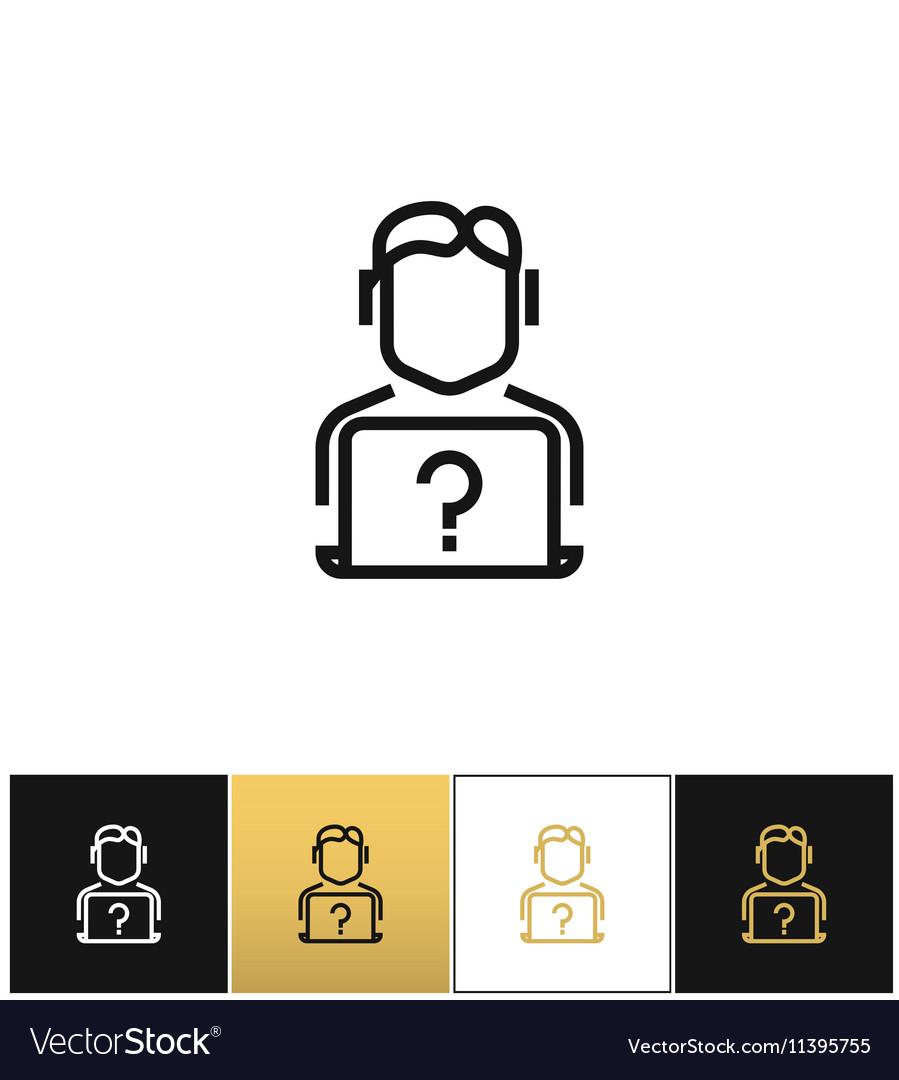 Live online support hotline information assistance vector image