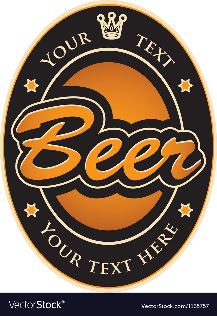 Labels for the beer vector image