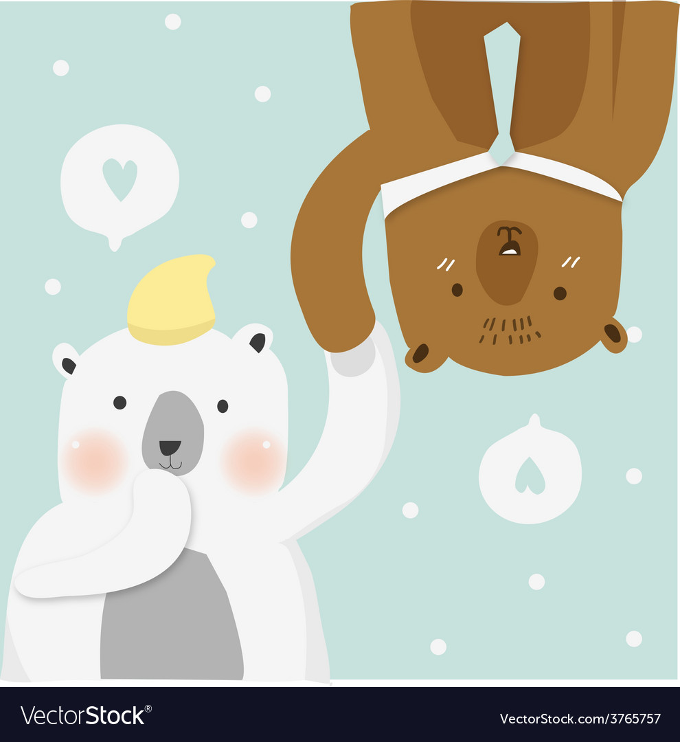 Couples bear vector image