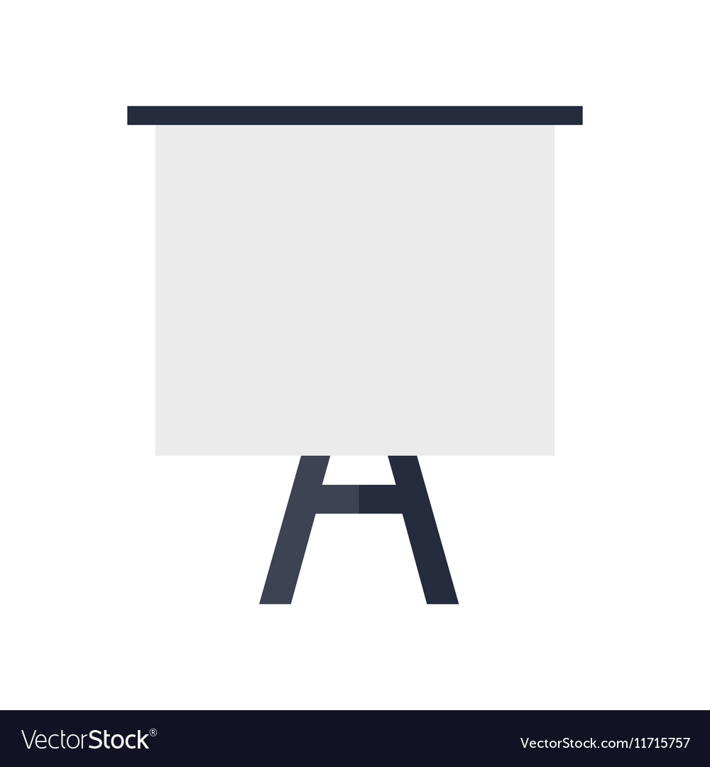 Tripod Whiteboard with Blank Screen vector image