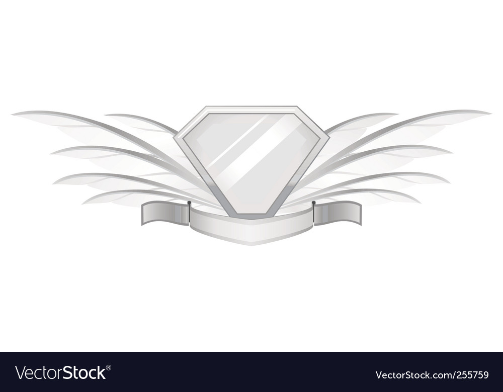 Feather shield vector image