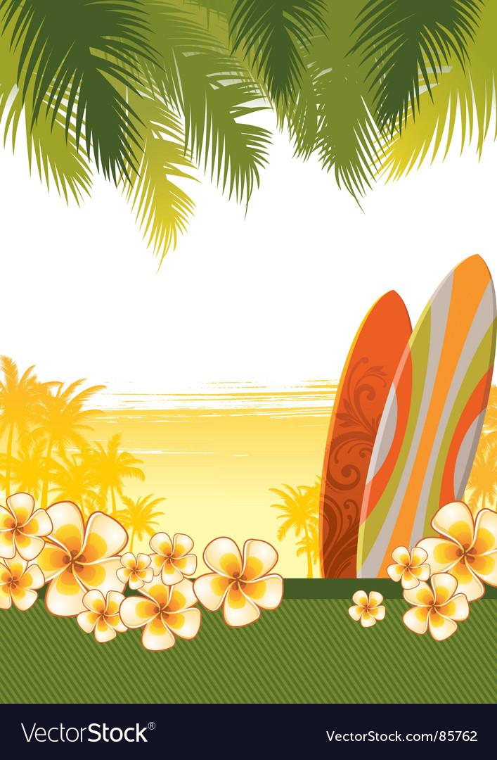 Surfboards vector image