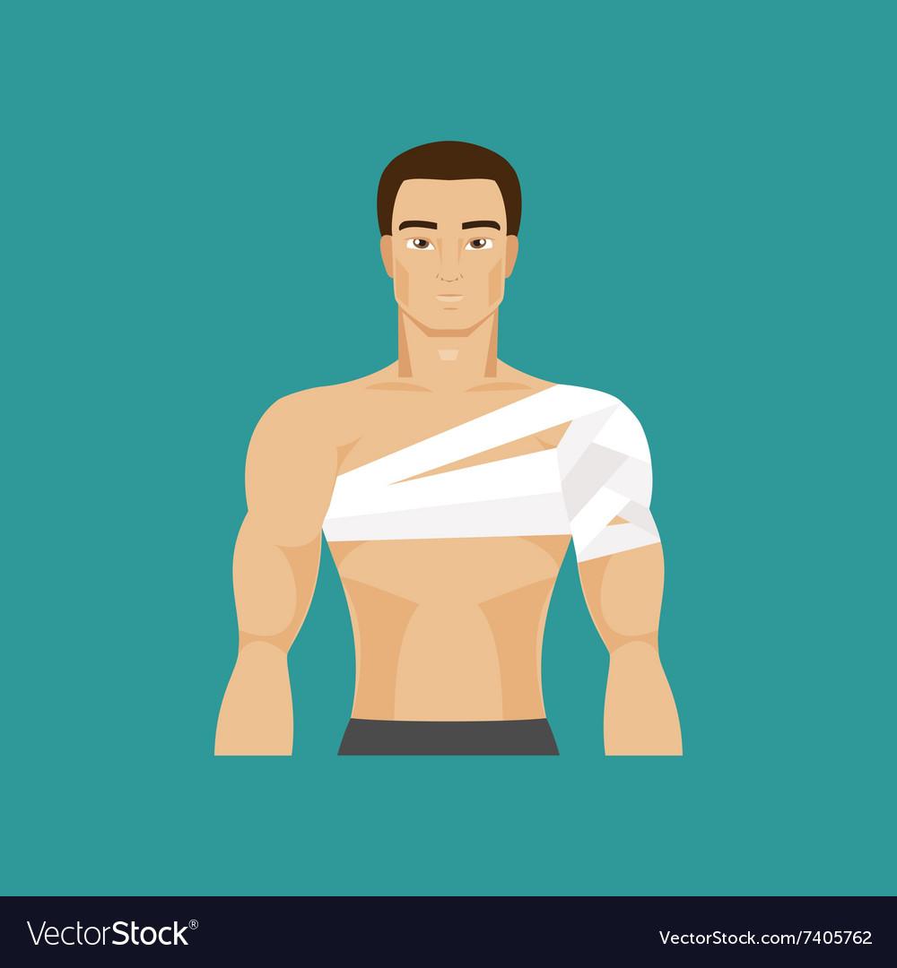 Bandaged shoulder vector image