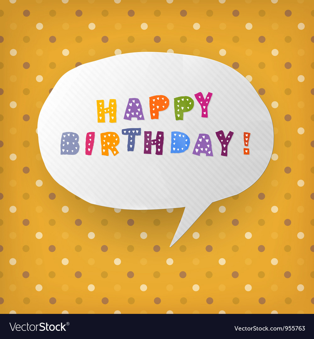 Happy birthday gift card template Royalty Free Vector Image