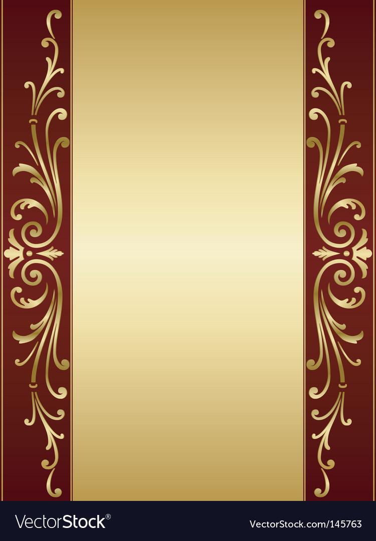 Vintage scroll background vector image