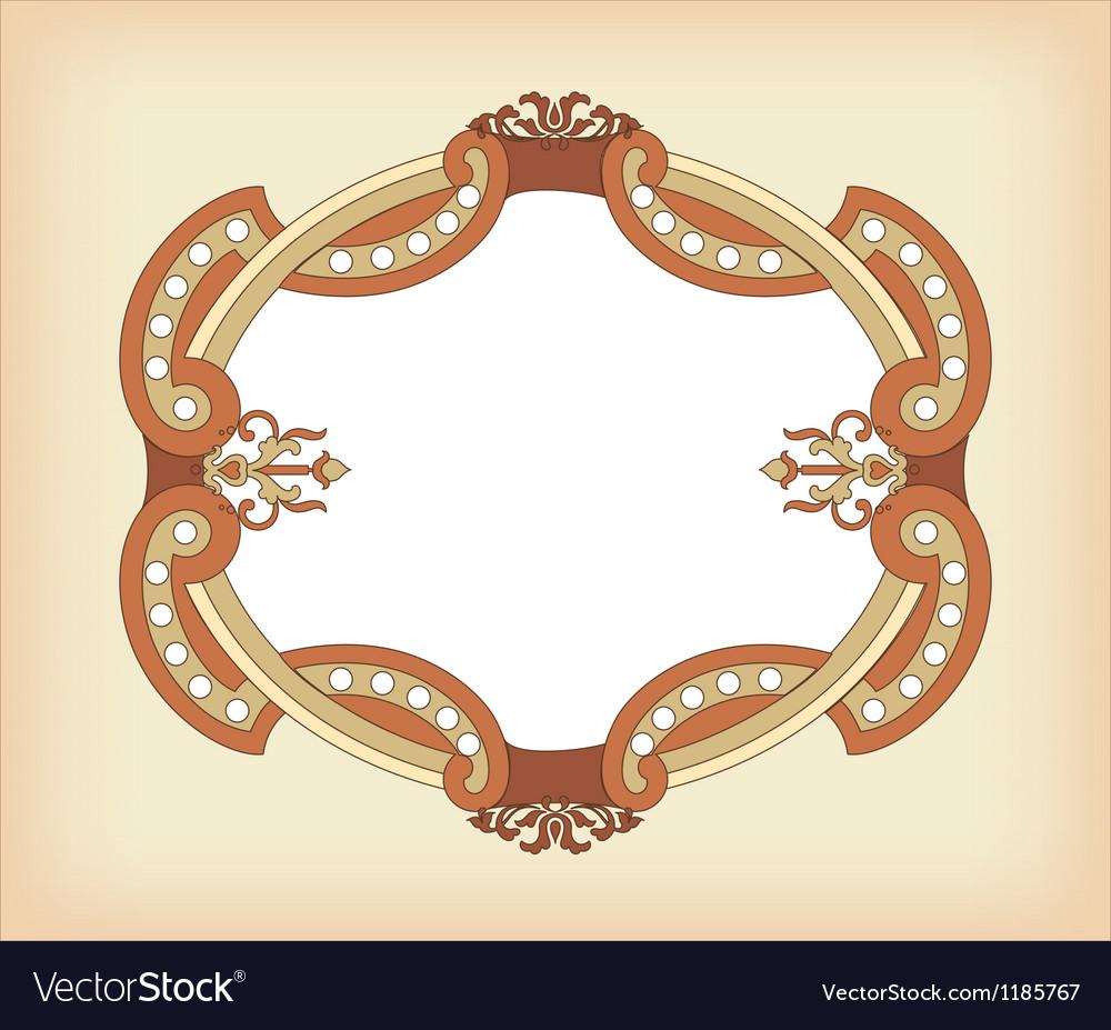 Vintage frame background vector image