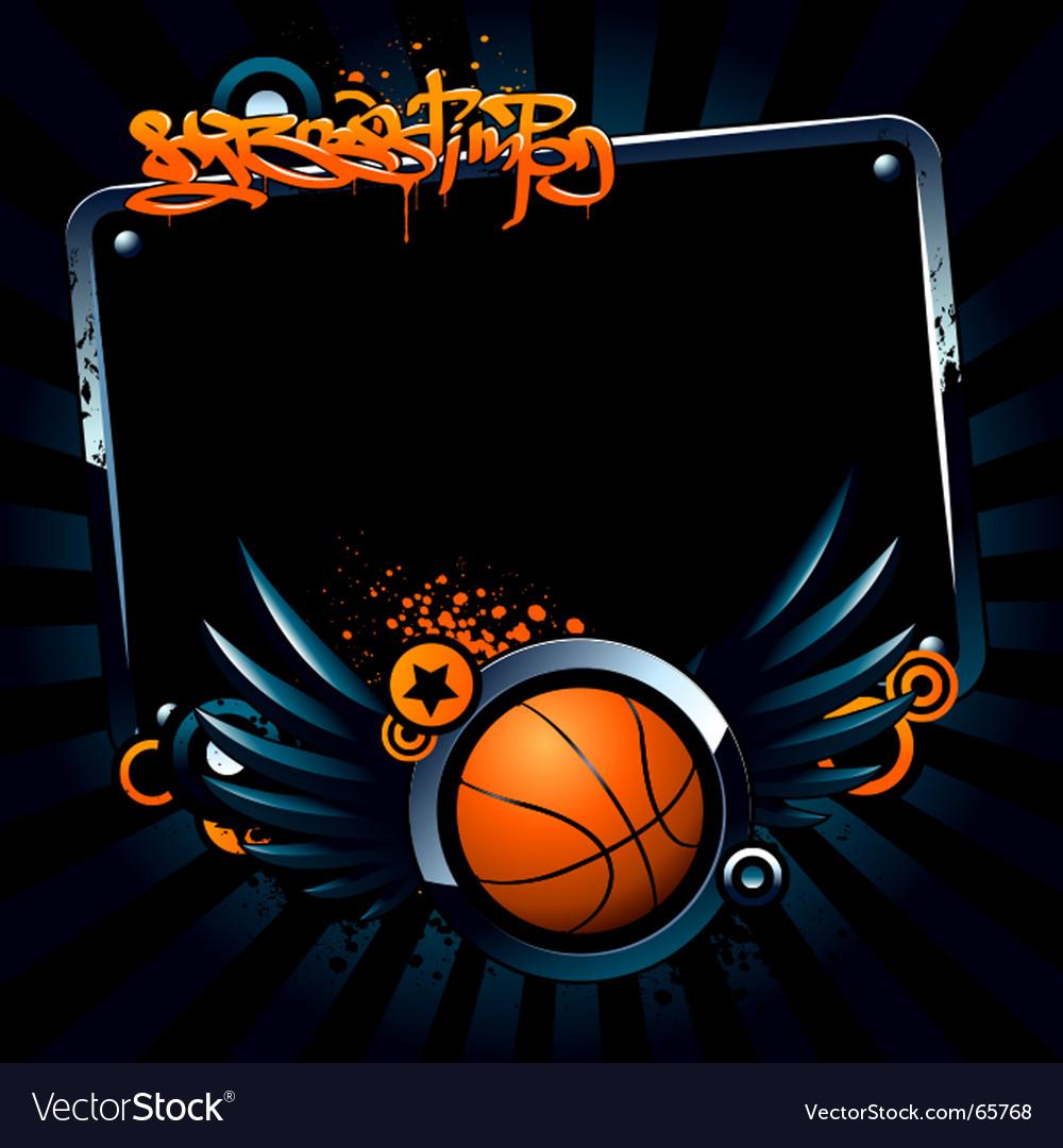 Basketball banner vector image