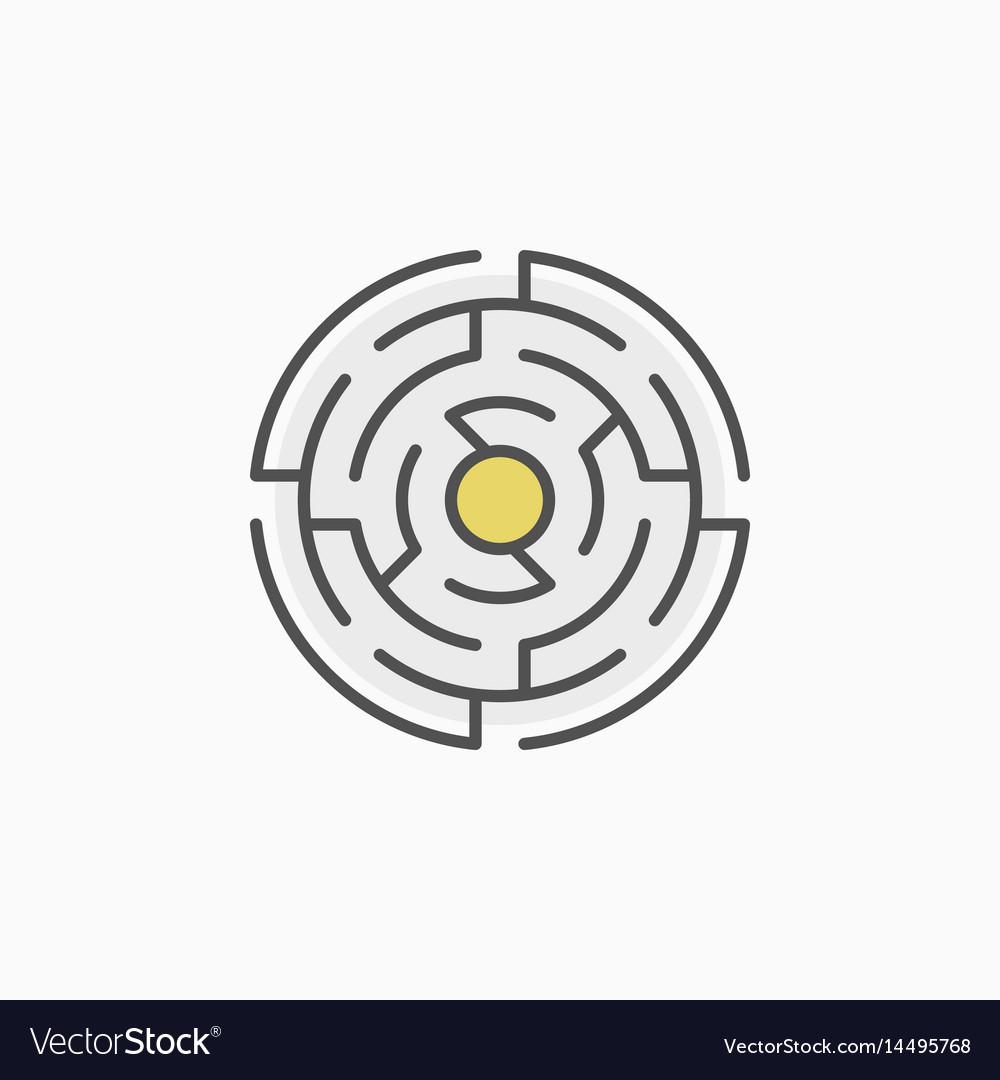 Colorful round maze icon vector image