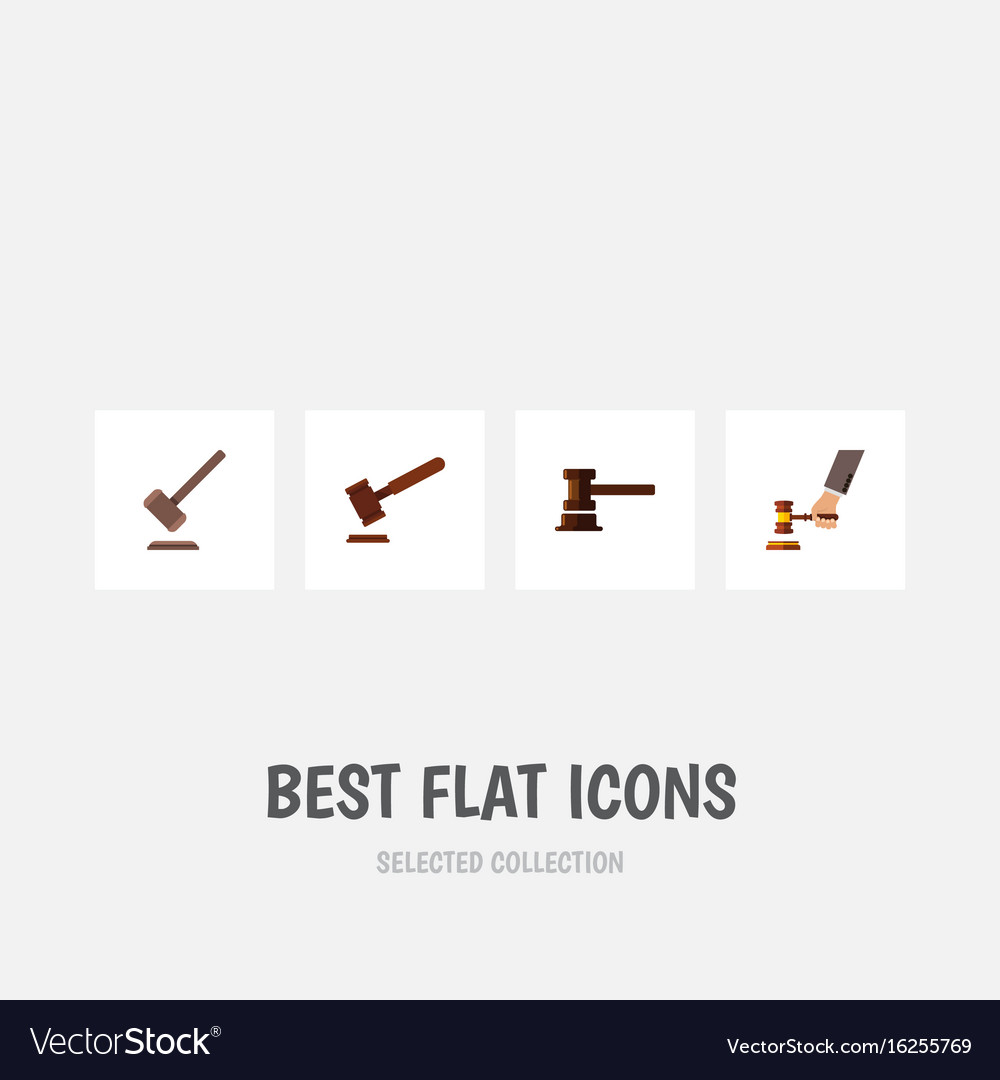 Flat icon lawyer set of government building vector image