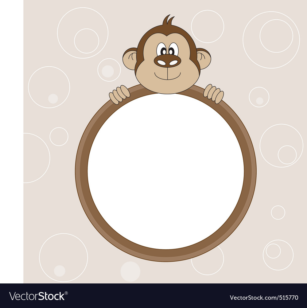 monkey frame vector image - Monkey Picture Frame