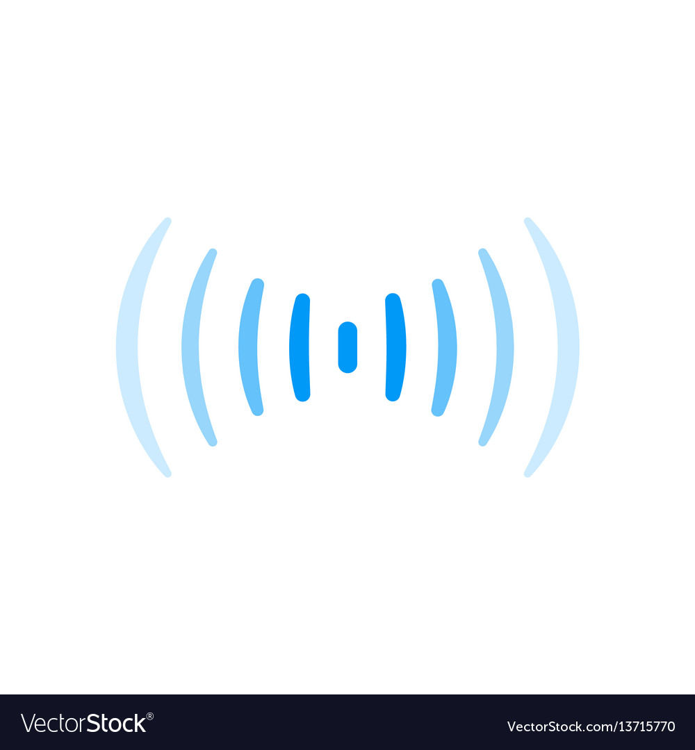 Wifi signal connection sound radio wave logo vector image