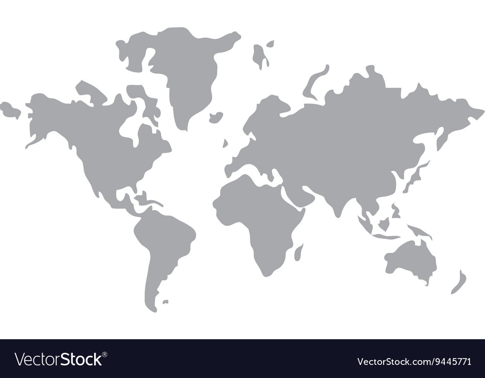 World map icon design royalty free vector image for Map designer free