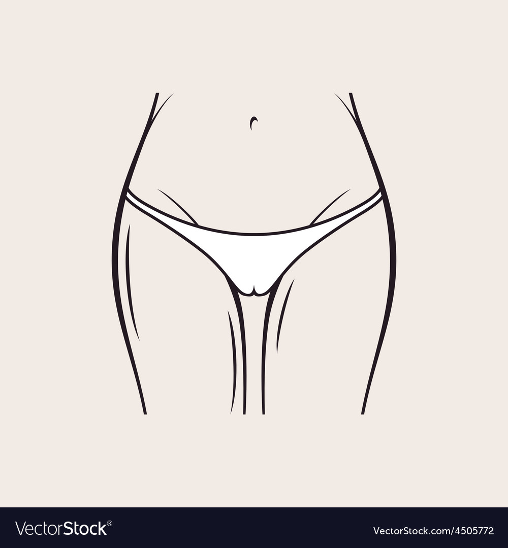 Sexy white panties icon women thong slim figure vector image