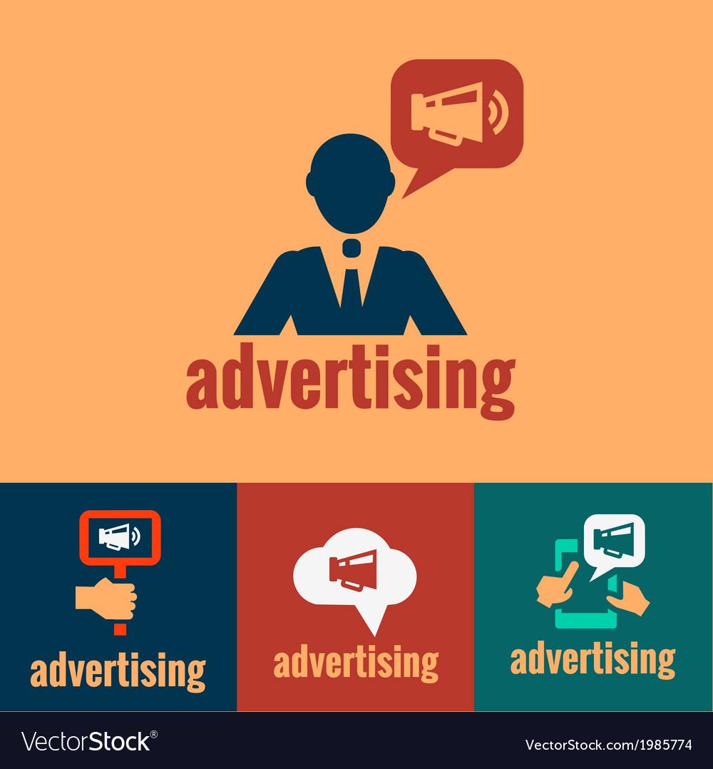Advertising sign human symbol vector image