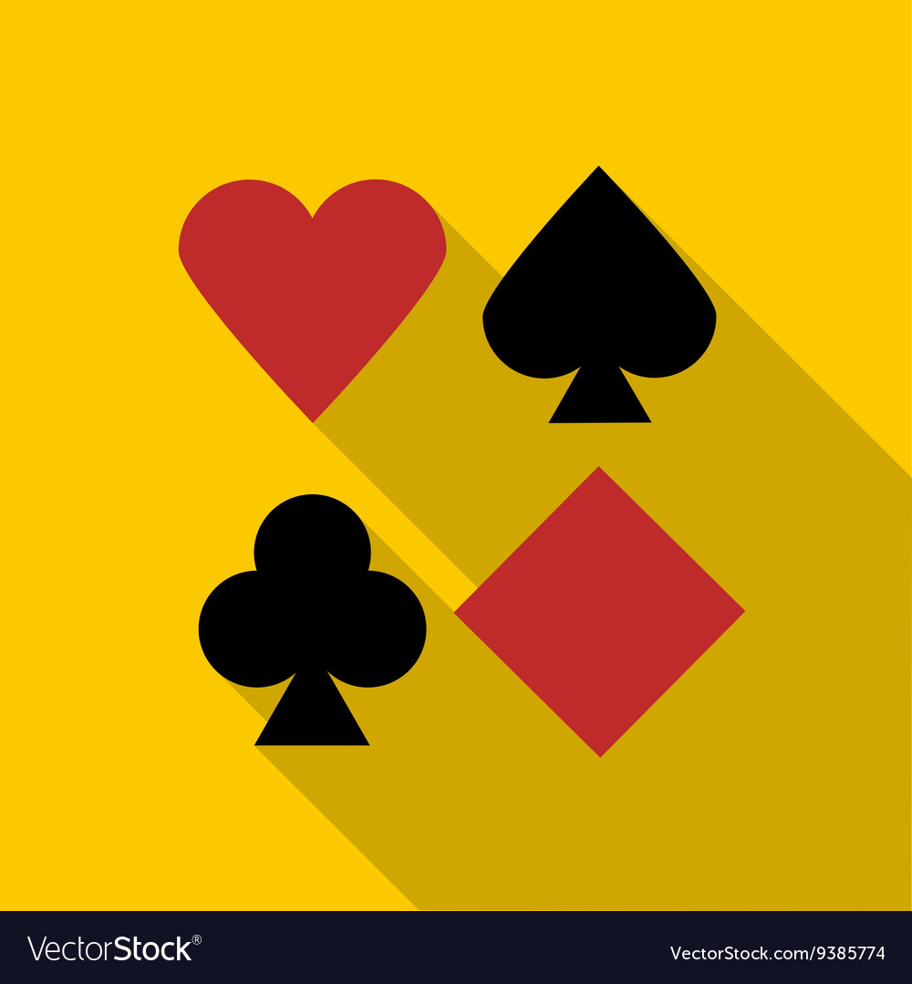 Set of playing card symbols icon flat style vector image set of playing card symbols icon flat style vector image biocorpaavc