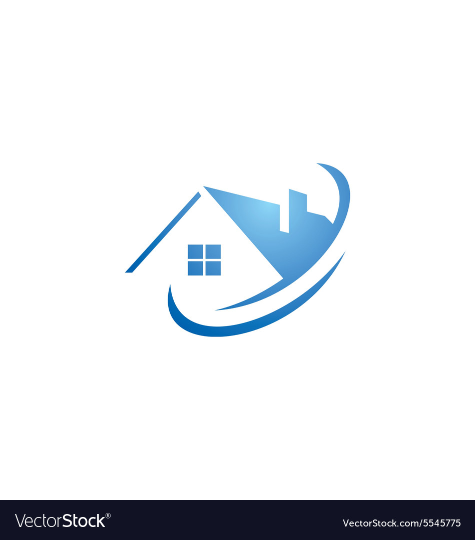 House abstract roof construction logo royalty free vector for House logo design free