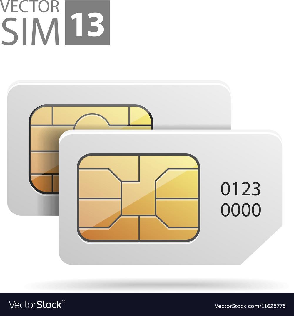 SimCard07 vector image