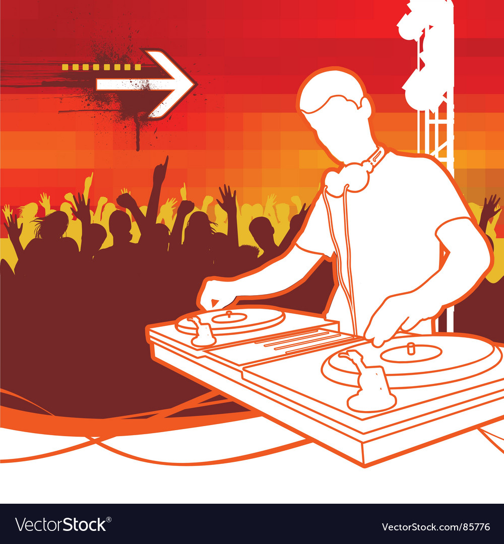 Party dj vector image