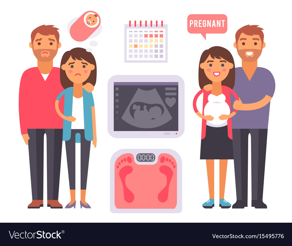 Infertility pregnancy problems medical maternity vector image