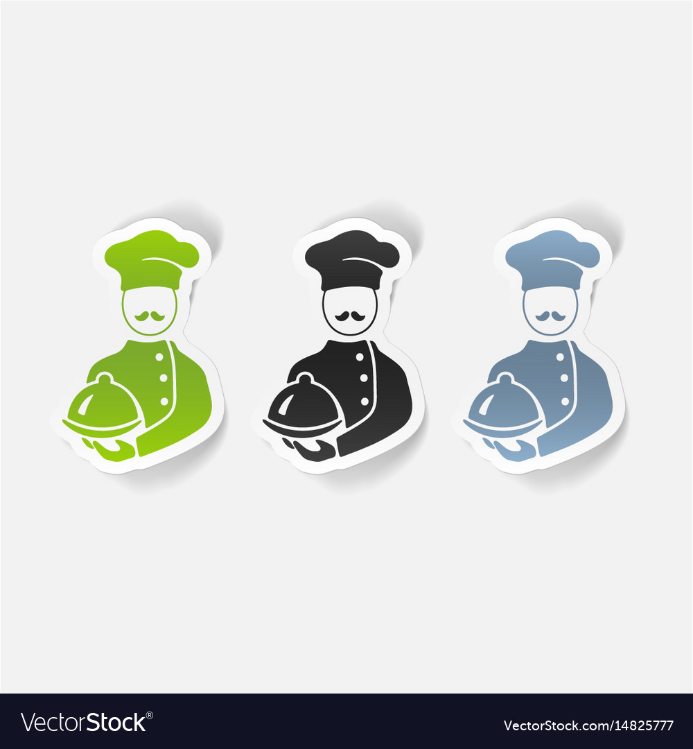 Realistic design element cook vector image