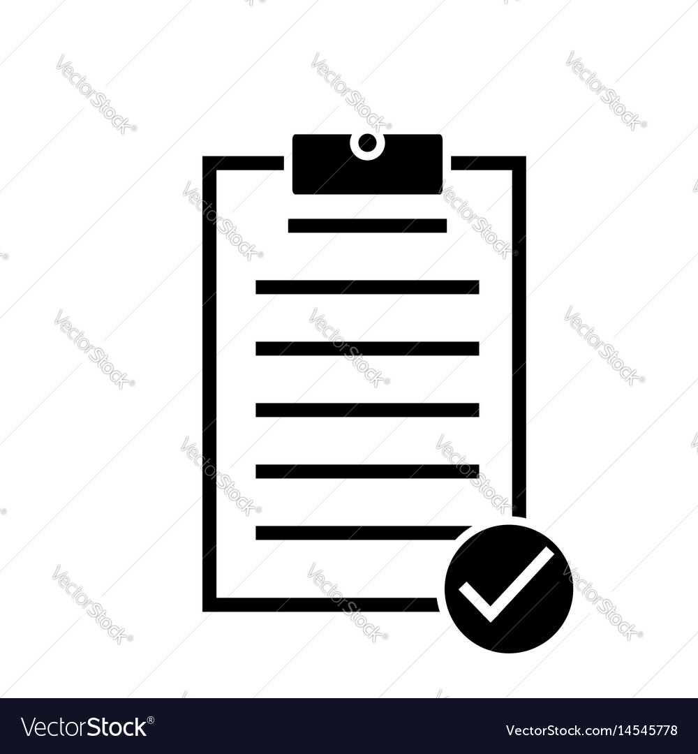 Form icon on white background form sign vector image