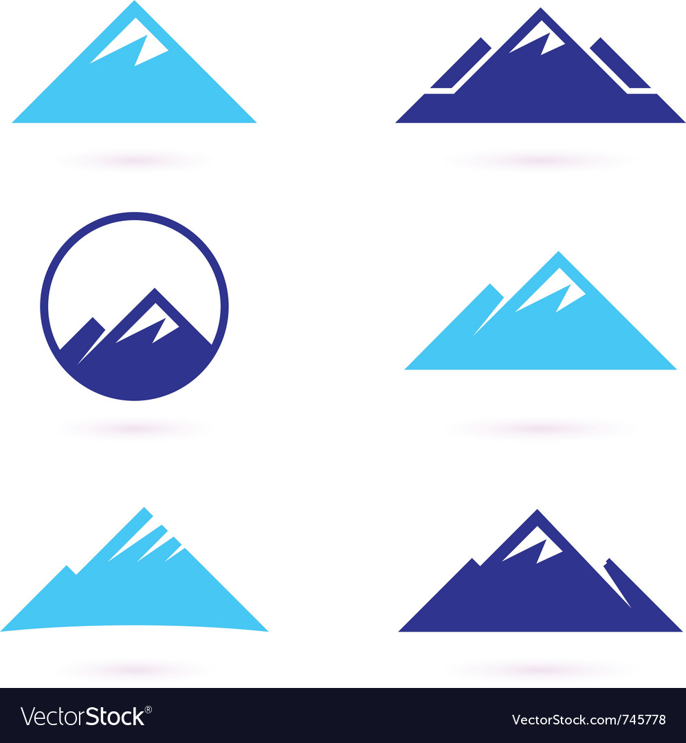 Hill or mountain icons vector image