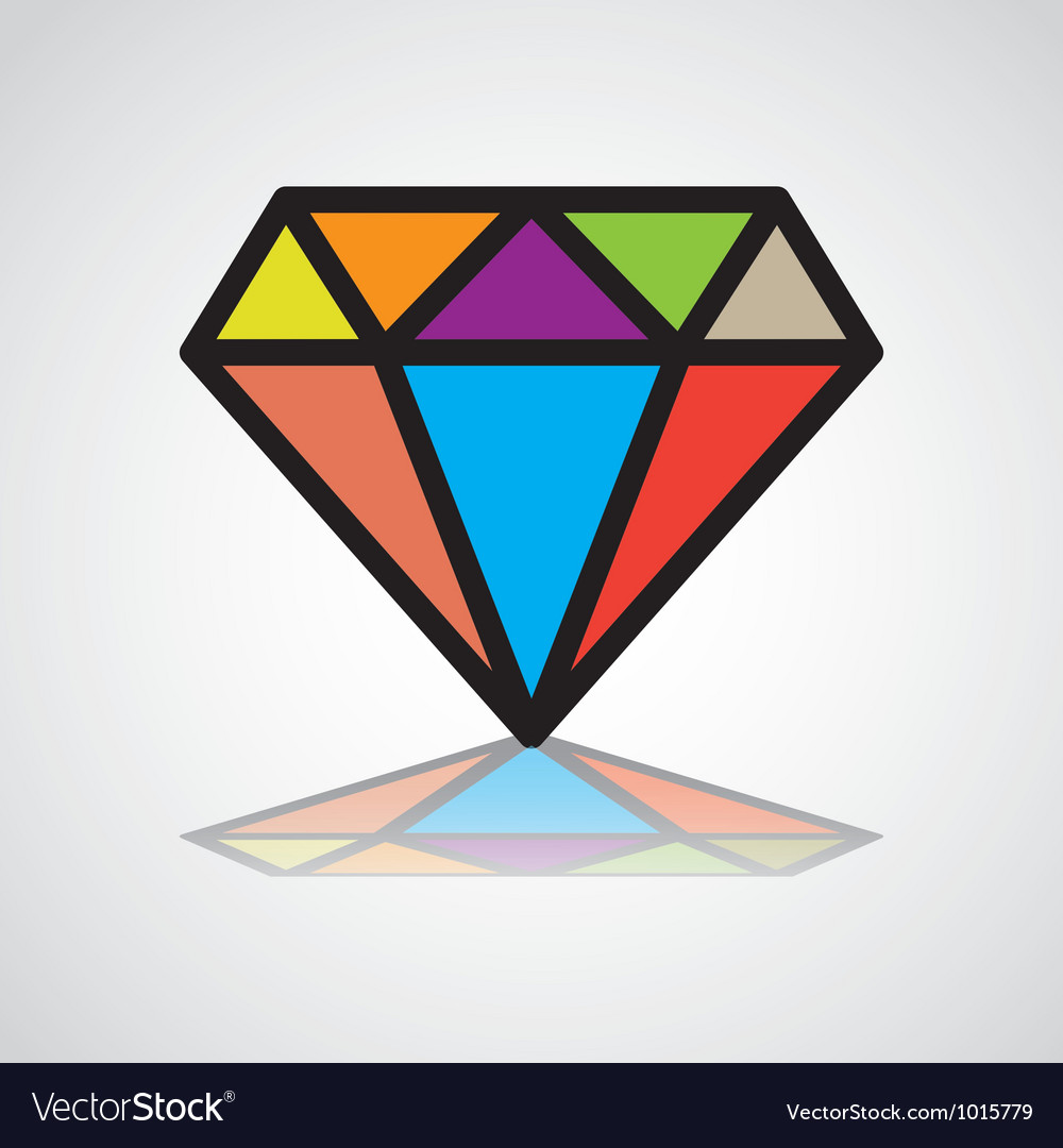 DiamondD Vector Image