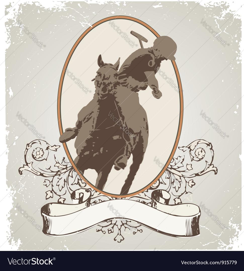 Horse sport vector image