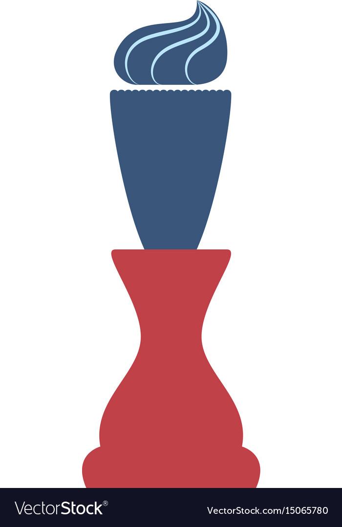 Brush razor isolated vector image