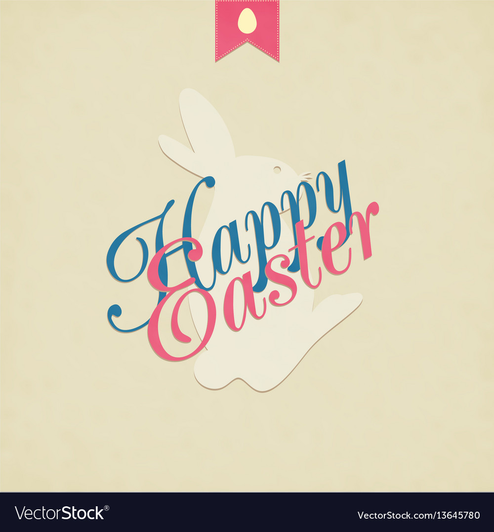Easter grunge background vector image