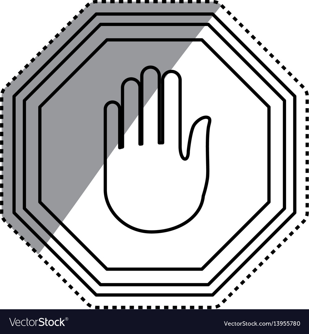 Stop sign hand vector image