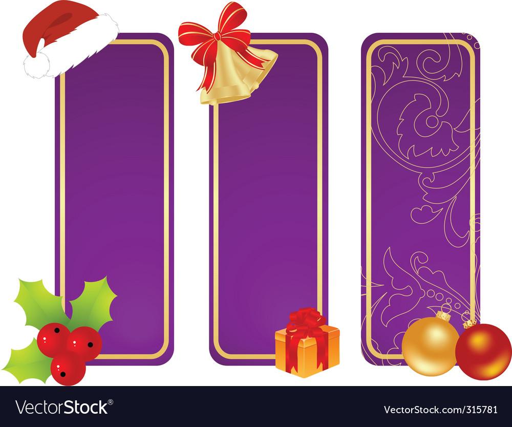 Christmas tablets vector image