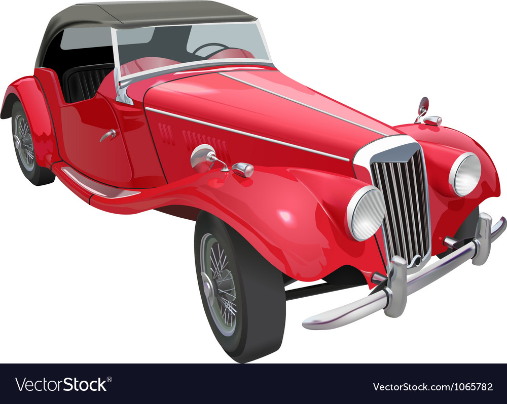 Vintage car vector image