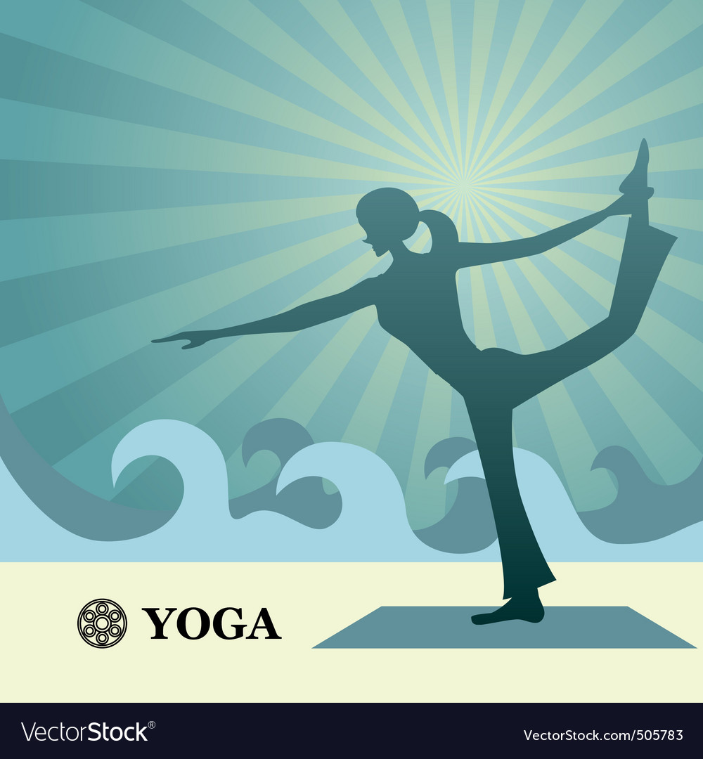 Yoga and pilates background vector image