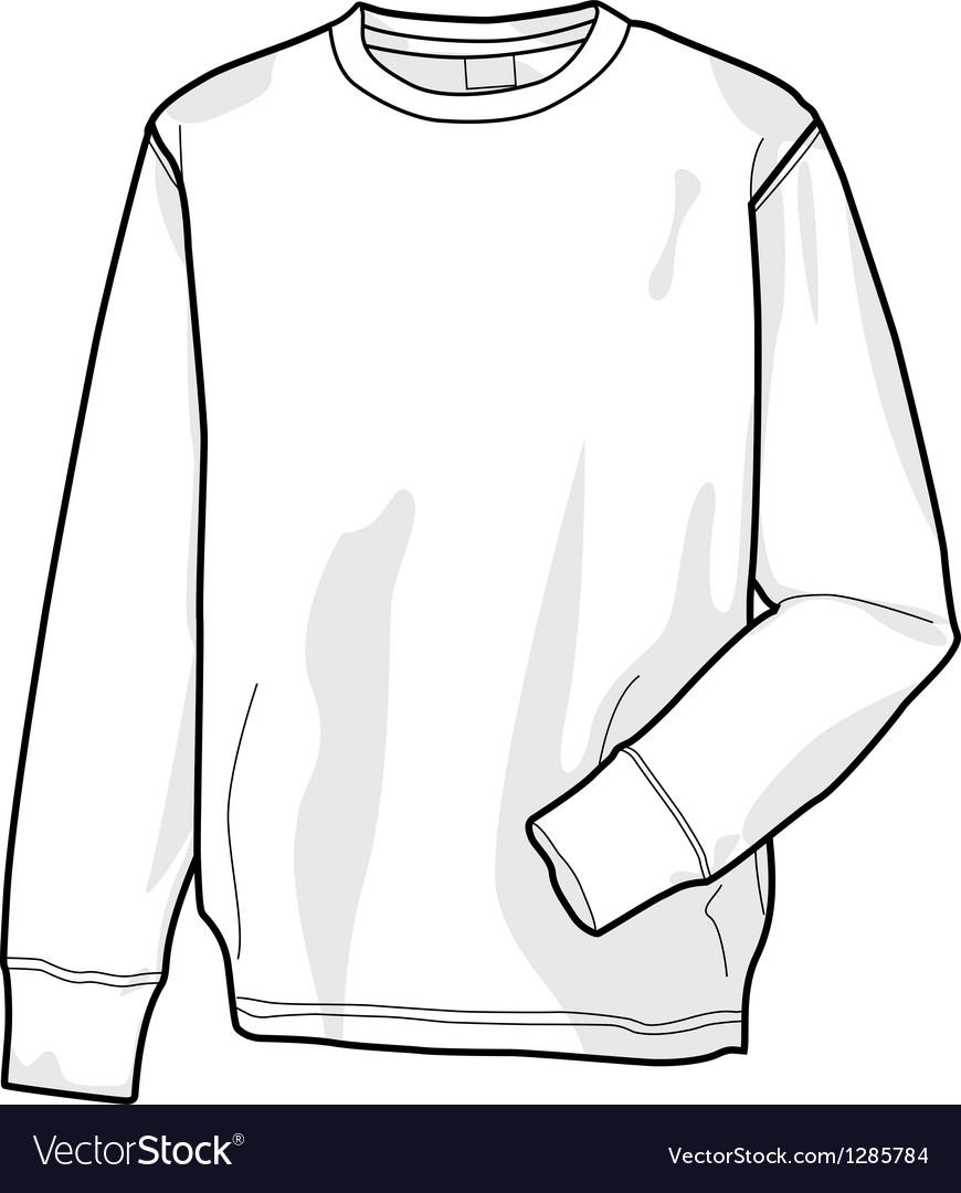 Colorable sweatshirt front Royalty Free Vector Image