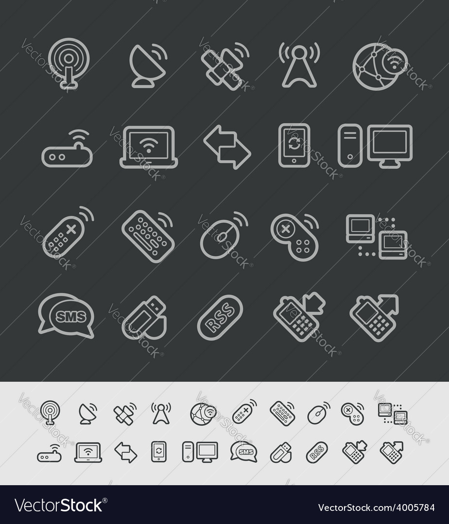 Wireless Communications Icons vector image