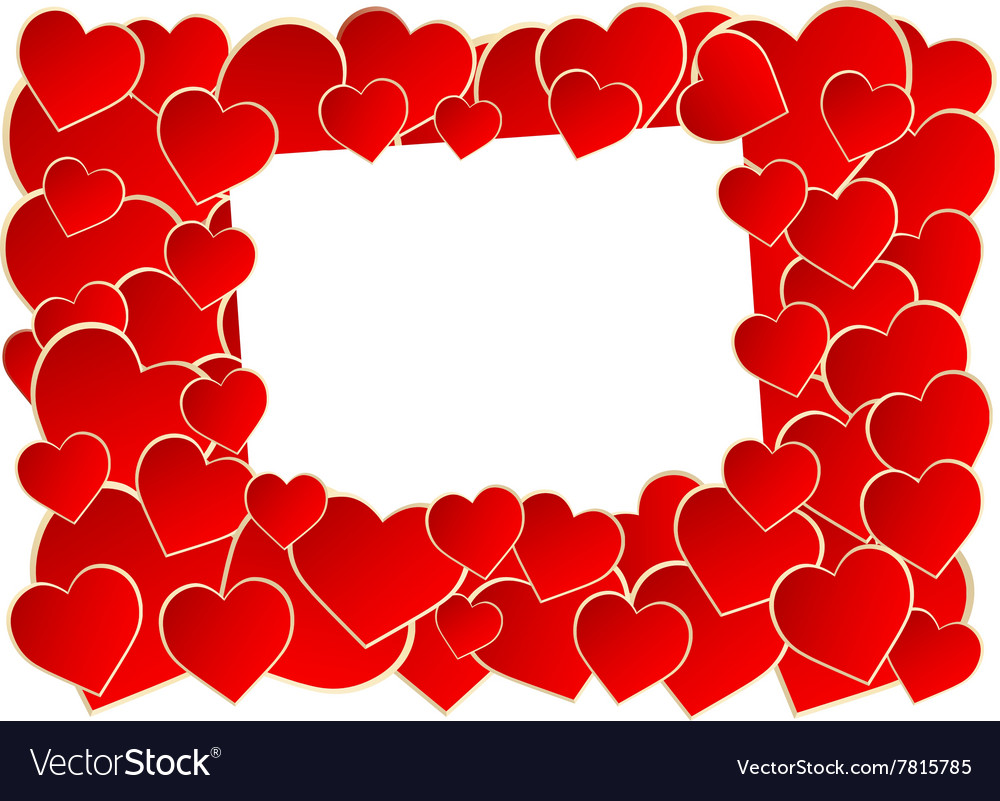 Frame of heart vector image