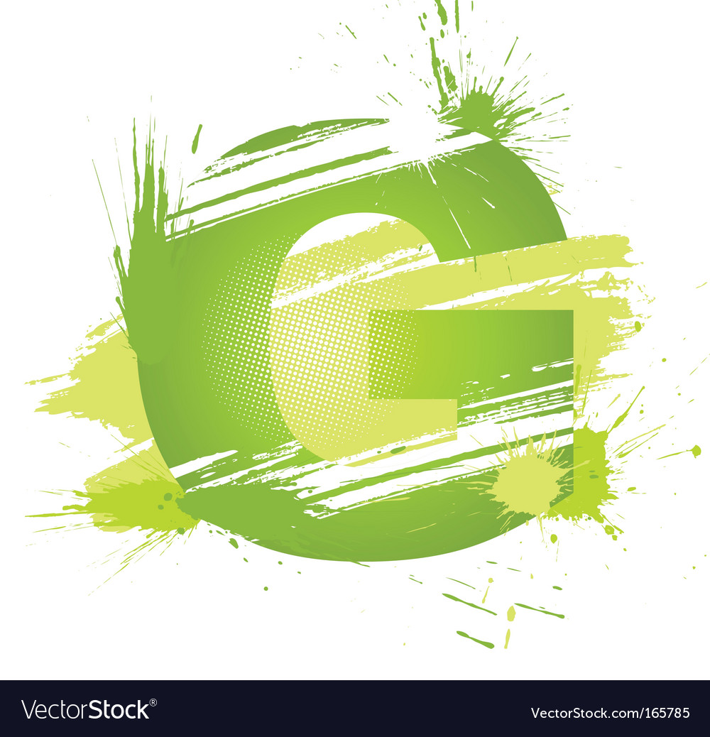 Letter G background vector image