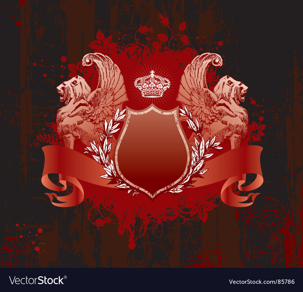 Crown on grunge background vector image