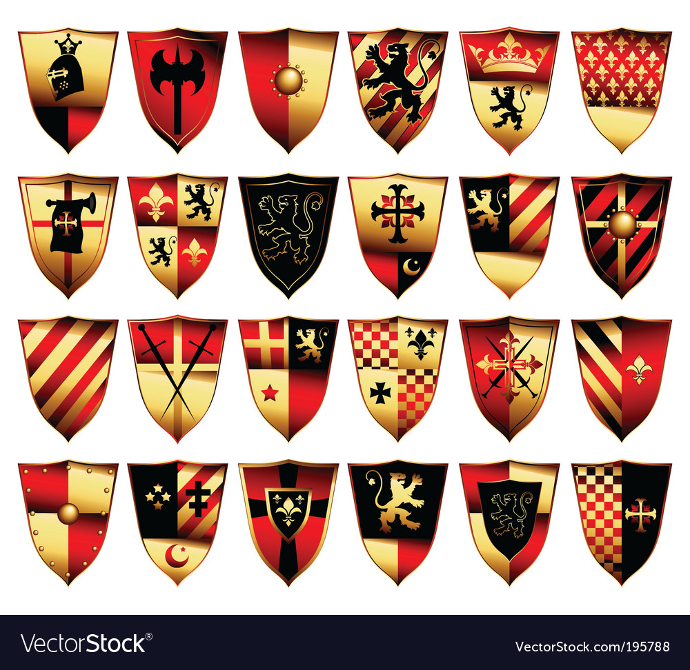Medieval set vector image