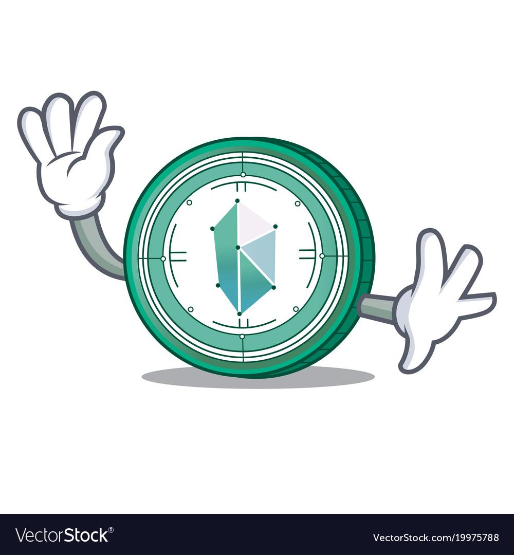 Waving kyber network character cartoon vector image