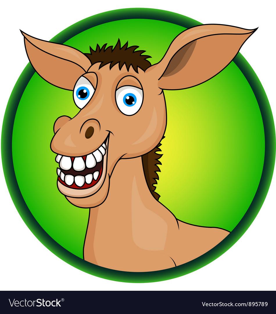 horse or donkey cartoon royalty free vector image